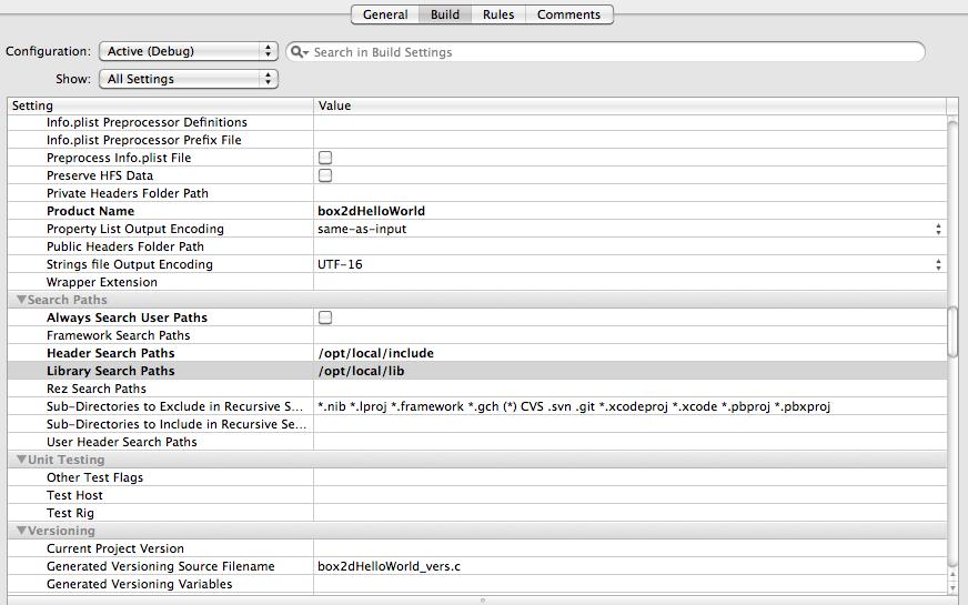Getting Box2D Physics Working in Xcode | Daniel Beard's